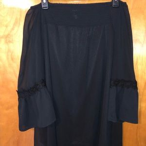 Black Off the Shoulder Alfani Blouse